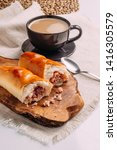 cachitos and cup of coffee ... | Shutterstock . vector #1416305579