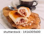 cachitos and cup of coffee ... | Shutterstock . vector #1416305600