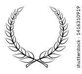 laurel wreath icon. emblem made ... | Shutterstock .eps vector #1416310919