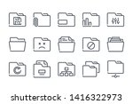 folder related line icon set....