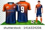soccer jersey  sport shirt or...   Shutterstock .eps vector #1416324206