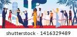 celebrities walking along red... | Shutterstock .eps vector #1416329489
