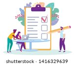 man sign distance learning... | Shutterstock .eps vector #1416329639