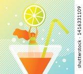fresh juicy summer cocktail...   Shutterstock .eps vector #1416331109