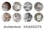 set of tree rings. wood texture ... | Shutterstock .eps vector #1416332273