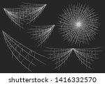halloween realistic spiderweb...   Shutterstock .eps vector #1416332570