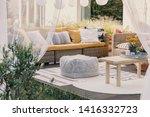 Terrace Design Idea With Ratta...