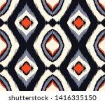 ikat geometric folklore...   Shutterstock .eps vector #1416335150