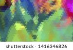 geometric design. colorful... | Shutterstock .eps vector #1416346826