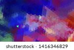 geometric design. colorful... | Shutterstock .eps vector #1416346829