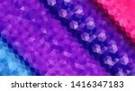 geometric design. colorful... | Shutterstock .eps vector #1416347183