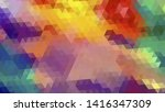 geometric design. colorful... | Shutterstock .eps vector #1416347309