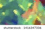 geometric design. colorful... | Shutterstock .eps vector #1416347336