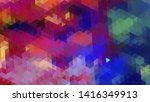 geometric design. colorful... | Shutterstock .eps vector #1416349913