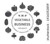 vegetable business silhouette... | Shutterstock .eps vector #1416352859