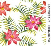 summer tropical realistic... | Shutterstock .eps vector #1416361019
