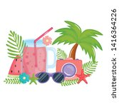 camera photographic with juice...   Shutterstock .eps vector #1416364226