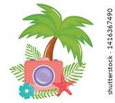 camera photographic summer...   Shutterstock .eps vector #1416367490