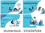 set of web page design... | Shutterstock .eps vector #1416369266