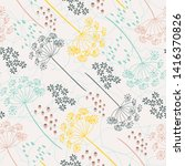 vector organic floral seamless... | Shutterstock .eps vector #1416370826