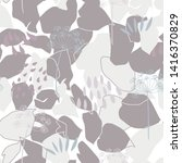 vector organic floral seamless... | Shutterstock .eps vector #1416370829