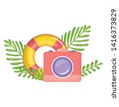 camera photographic with float...   Shutterstock .eps vector #1416373829