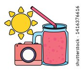 camera photographic with sun...   Shutterstock .eps vector #1416376616