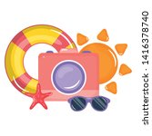 camera photographic with...   Shutterstock .eps vector #1416378740
