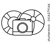camera photographic with...   Shutterstock .eps vector #1416379166