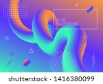 vector geometric background... | Shutterstock .eps vector #1416380099