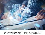 writing man's hands background... | Shutterstock . vector #1416393686