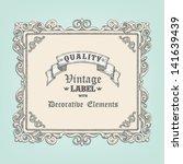 hand drawn vintage frame | Shutterstock .eps vector #141639439