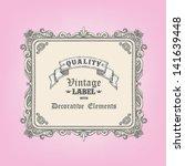 hand drawn vintage frame | Shutterstock .eps vector #141639448