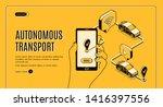 autonomous transport ... | Shutterstock .eps vector #1416397556