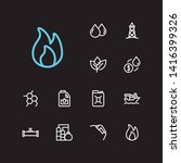 energy icons set. plant and...