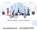 save planet use eco transport... | Shutterstock .eps vector #1416402299