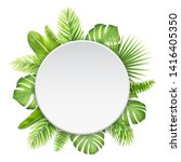 white label with tropical... | Shutterstock .eps vector #1416405350