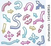 vector doodle arrow... | Shutterstock .eps vector #141640816