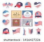 4th of july american elements ... | Shutterstock .eps vector #1416427226