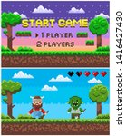 start game and battle screen of ... | Shutterstock .eps vector #1416427430