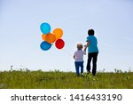 little boys  toddler and his... | Shutterstock . vector #1416433190