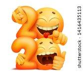 yellow emoji smile characters....   Shutterstock .eps vector #1416435113