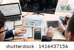 business team investment... | Shutterstock . vector #1416437156