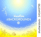 mozaic background with sea and... | Shutterstock .eps vector #141643750