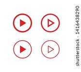 play button linear icon set.... | Shutterstock .eps vector #1416438290