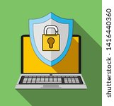 computer security  protect your ... | Shutterstock . vector #1416440360