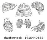 set of illustration. liver ...   Shutterstock . vector #1416440666