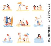 parents and their children... | Shutterstock .eps vector #1416447233