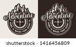 vintage summer adventure round... | Shutterstock .eps vector #1416456809