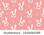 Bunny Print Seamless Texture...